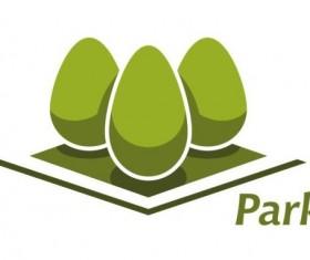 Green park logo vectors set 03