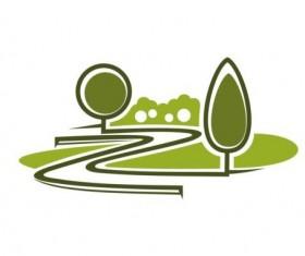 Green park logo vectors set 04
