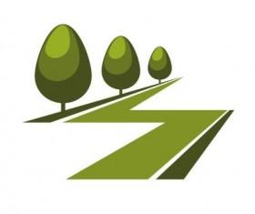 Green park logo vectors set 05