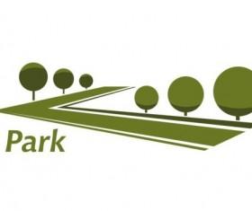 Green park logo vectors set 06