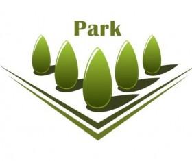 Green park logo vectors set 07