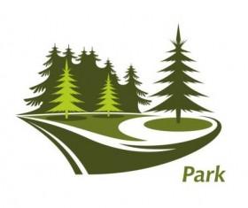 Green park logo vectors set 08