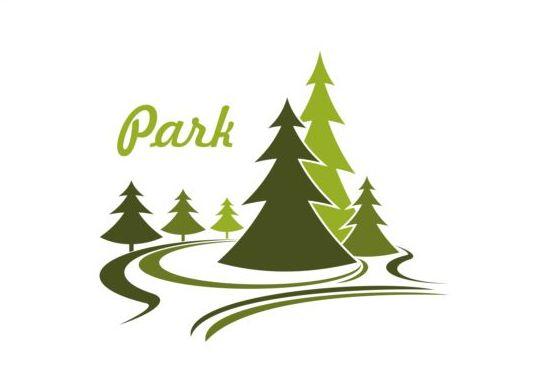 Green park logo vectors set 09
