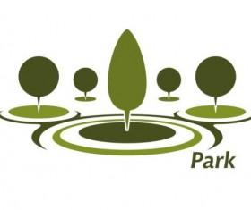 Green park logo vectors set 10