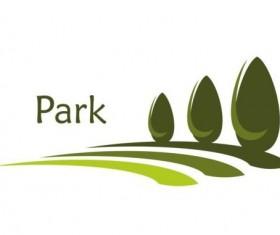 Green park logo vectors set 11