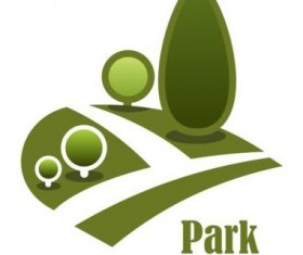 Green park logo vectors set 12