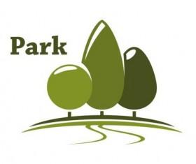 Green park logo vectors set 13