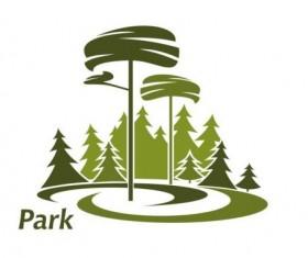 Green park logo vectors set 14