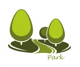 Green park logo vectors set 15