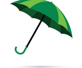 Green umbrella vector illustration