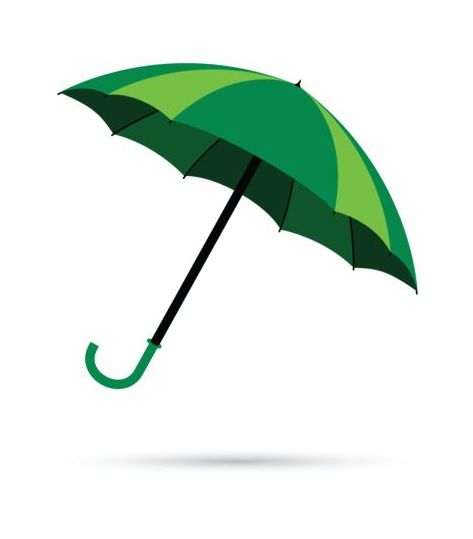 green umbrella vector illustration free download rh freedesignfile com umbrella vector download umbrella vector free