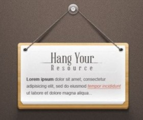 Hanging Note Sign Psd Template