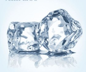 Ice cubes background vector 02