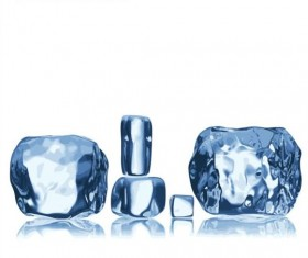Ice cubes background vector 03