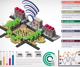 Isometric 3d community communication infographics vector 02