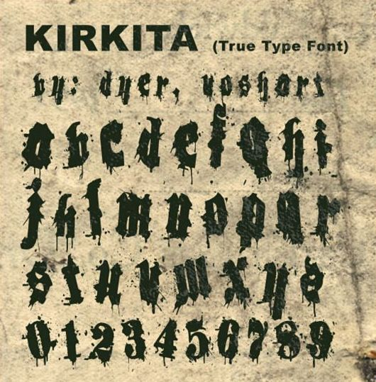 Kirkita retro fonts