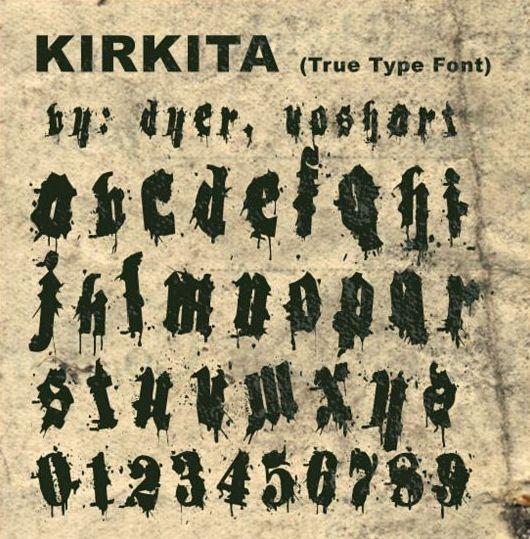 Kirkita retro fonts