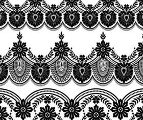Lace black border vector