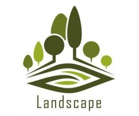 Landscape green logo vector 01