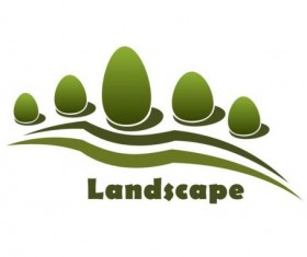Landscape green logo vector 02