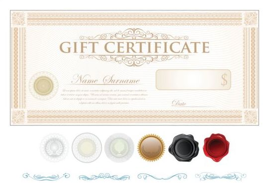 Light colored gift certificate template vector 04 vector cover light colored gift certificate template vector 04 yadclub Gallery