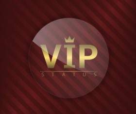 Luxury glass label with red background vector 26