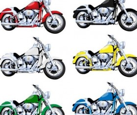 Luxury motorcycle vintage vector set