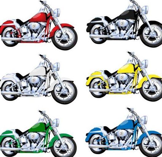 Luxury motorcycle vintage vector set