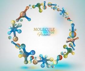 Molecule frame colored vector