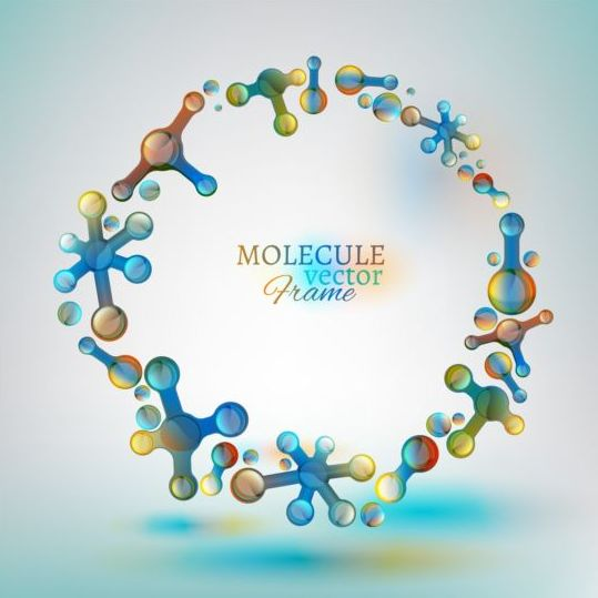 Molecule frame colored vector - Vector Frames & Borders free download: freedesignfile.com/248778-molecule-frame-colored-vector