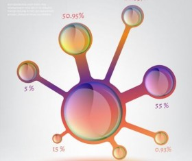 Molecule infographics modern template vector 03