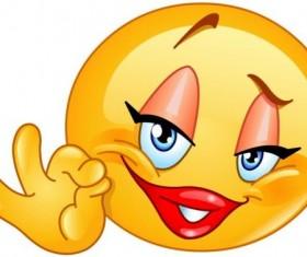 Ok sign female emoticon icon