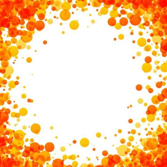 Orange dots frame vectors free download