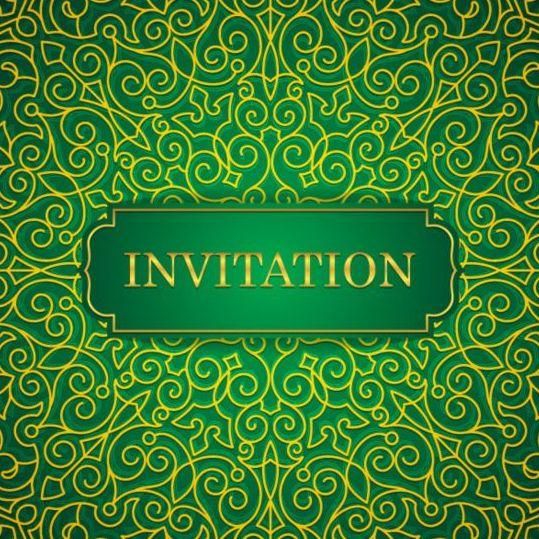 Orante green wedding invitation cards design vector 04 vector card orante green wedding invitation cards design vector 04 stopboris Images