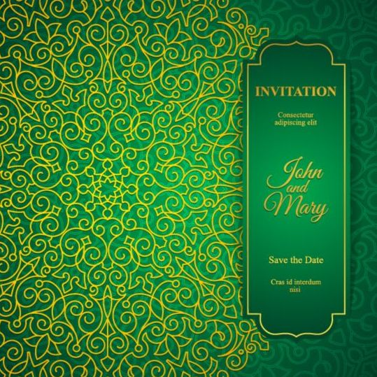... wedding invitation cards design vector 12 - Vector Card free download