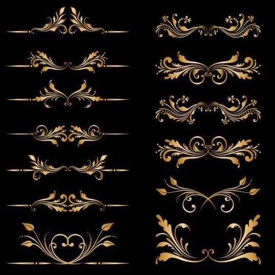 Ornament element frame vector material