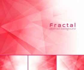 Pink fractal abstract background vector