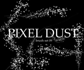 Pixel dust photoshop brushes set