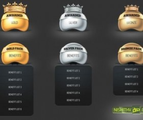 Price Table and Award PSD