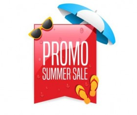 Promo summer offer labels vector design 02