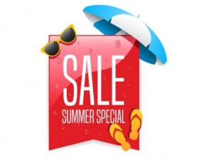 Promo summer offer labels vector design 03