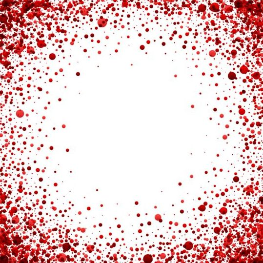 Red dots frame vectors 02 free download