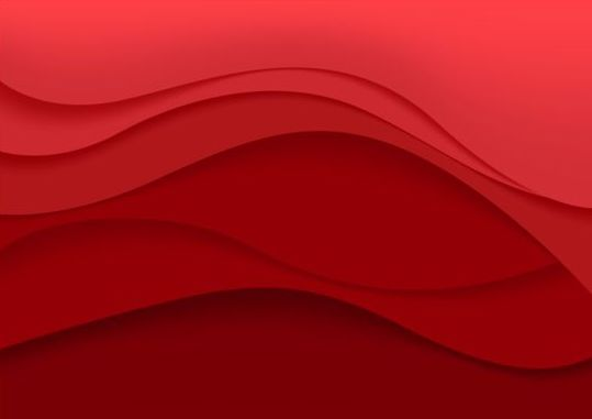 Red wavy background art vector