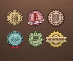 Retro Badges Vintage Psd Material