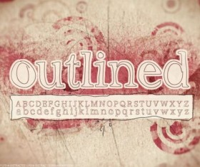 Retro Outlined fonts