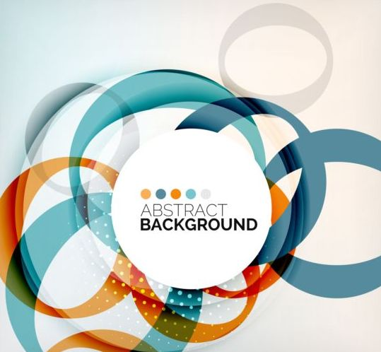 Round Shape Style Abstract Background 06 Free Download