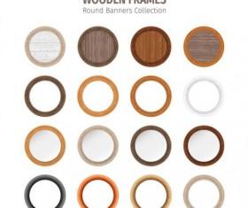 Round wooden frames vector