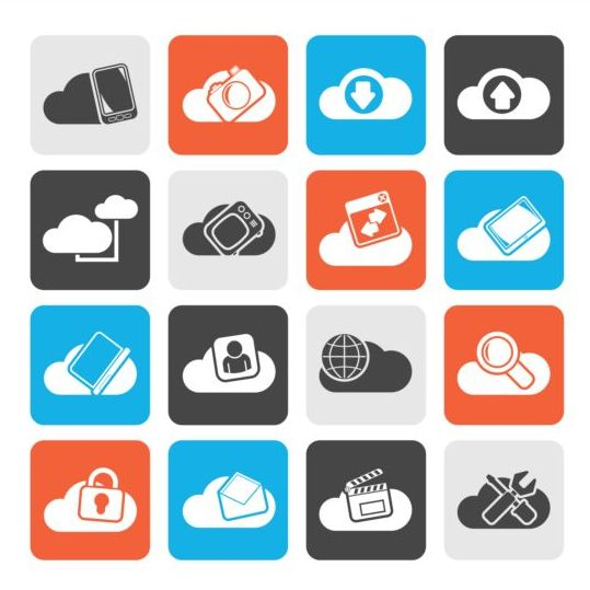 Rounded square cloud storage icons 01