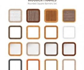 Square wooden frames vector