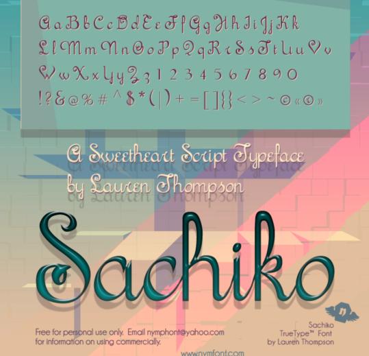 Sachiko Script fonts